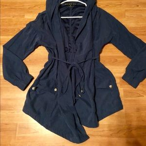 HYFVE faux suede long jacket, great with boots!